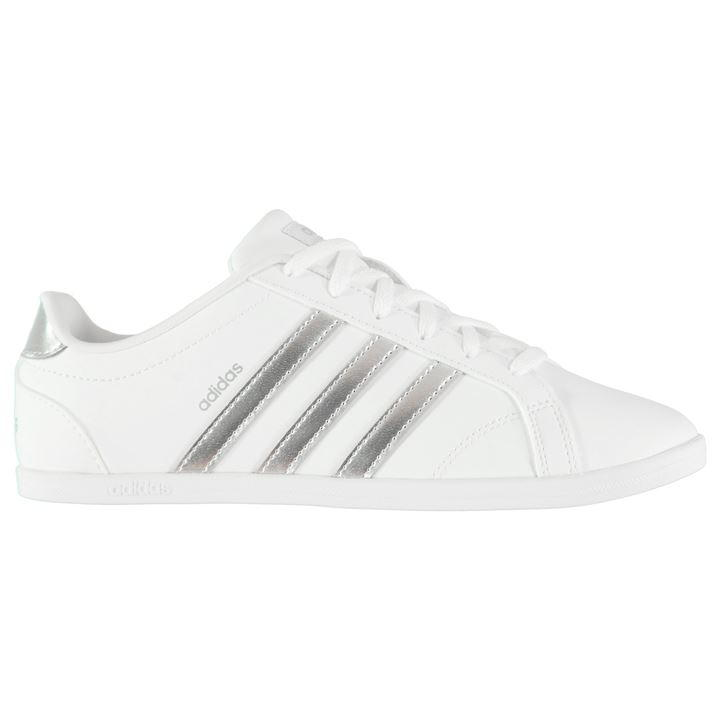 Adidas Coneo QT Ladies Trainers (White/Silver) - 7(40.7)
